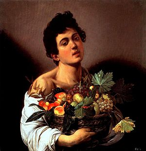 Caravaggio's 'Boy With A Basket of Fruit', Galleria Borghese, Rome