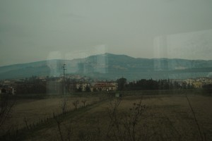 View from the Florence to Assisi train