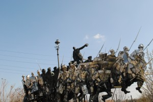 One hell of a statue at Memento Park
