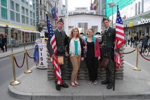 Me and Liz at Checkpoint Charlie