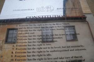 The constitution of Užupis