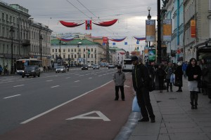Victory Day banners on Nevsky Prospeckt