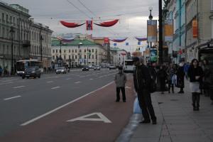 Victory Day banners on Nevsky Prospeckt
