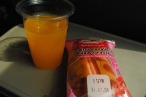 Pink refreshments on the Bbk-Chiang Mai train